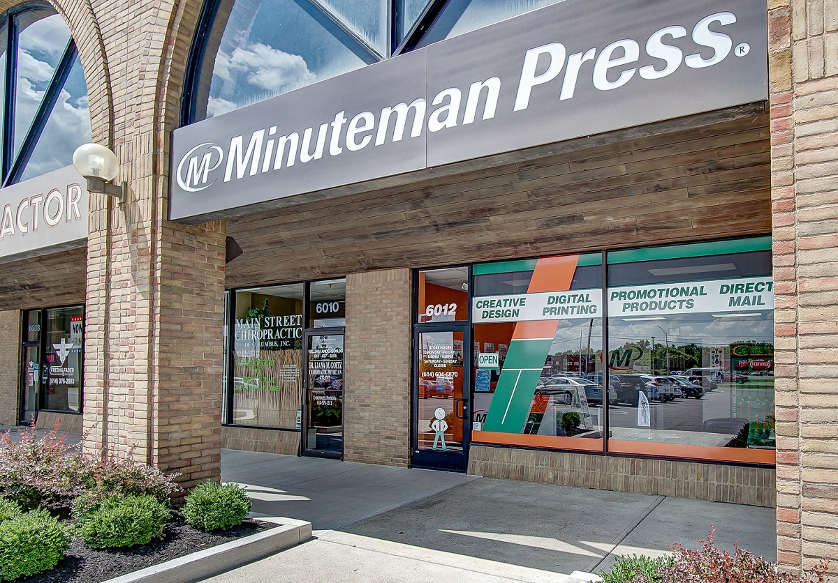 outside a minuteman press shop