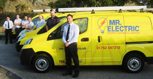 Mr Electric franchisees with vans