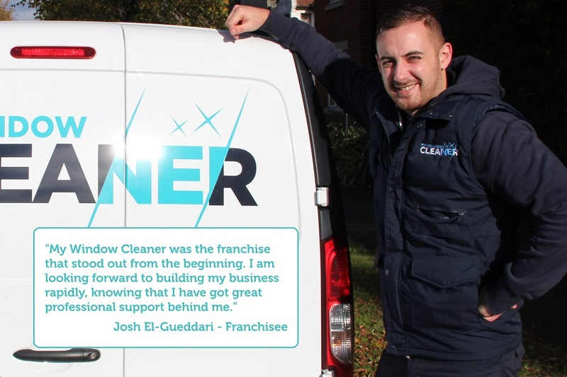 my window cleaner franchisees next to their van