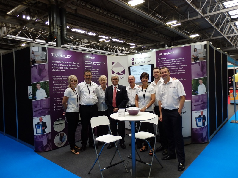 No Letting Go team at franchise exhibition