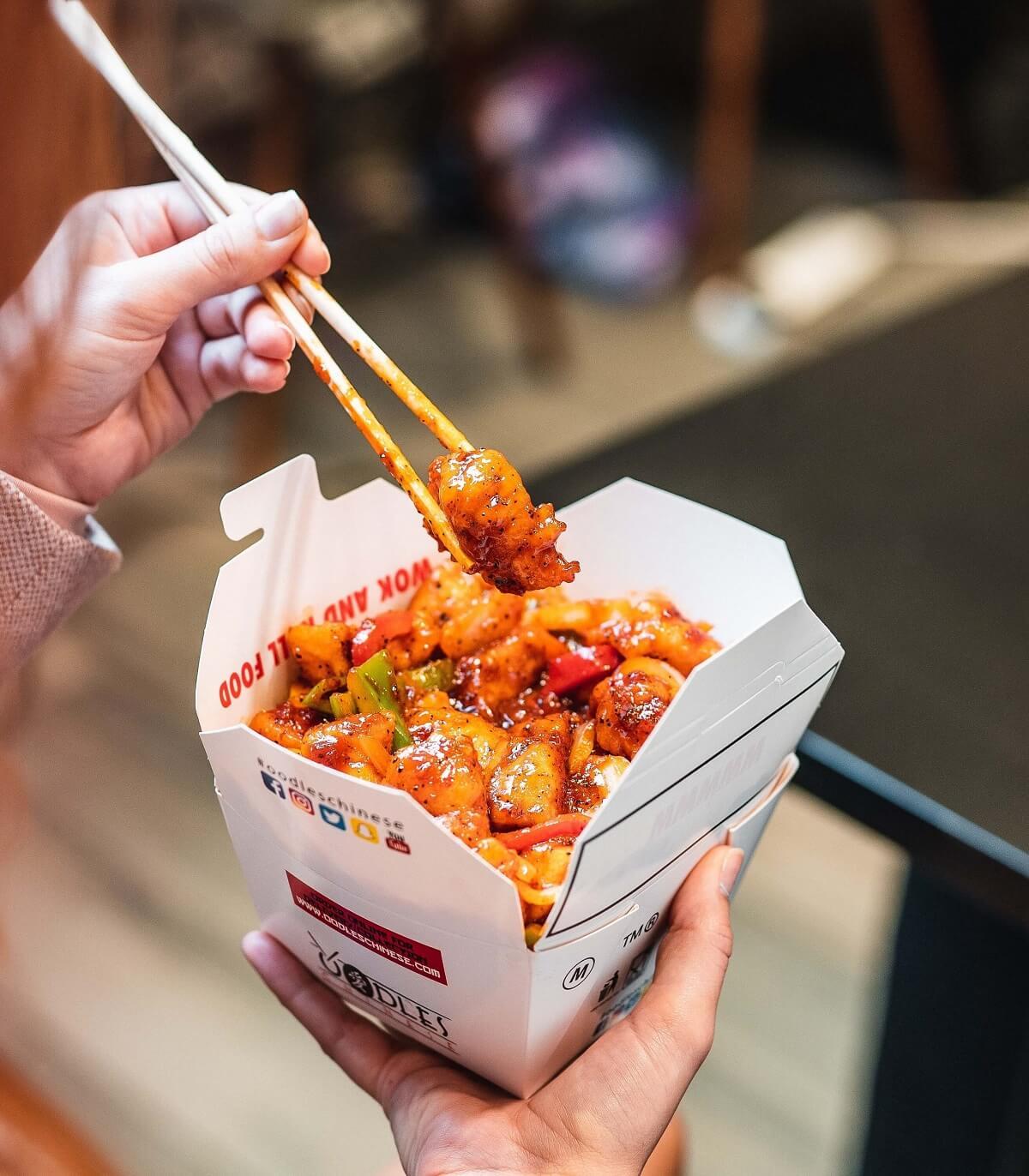 oodles food in box
