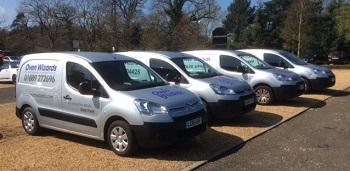 Oven Wizards franchise fleet of vans