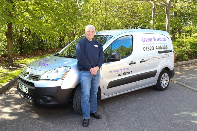 Oven Wizards franchisee with van