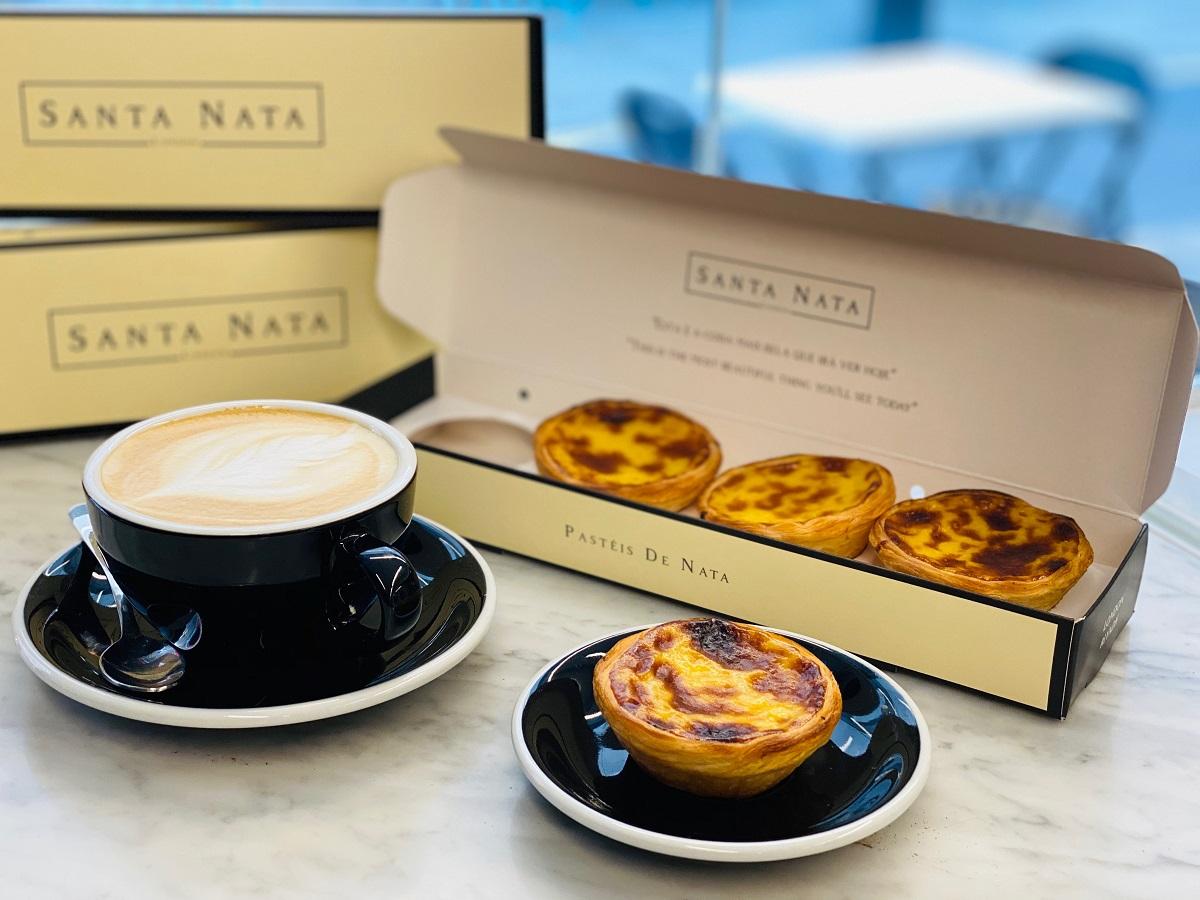 santa nata pastries with coffee