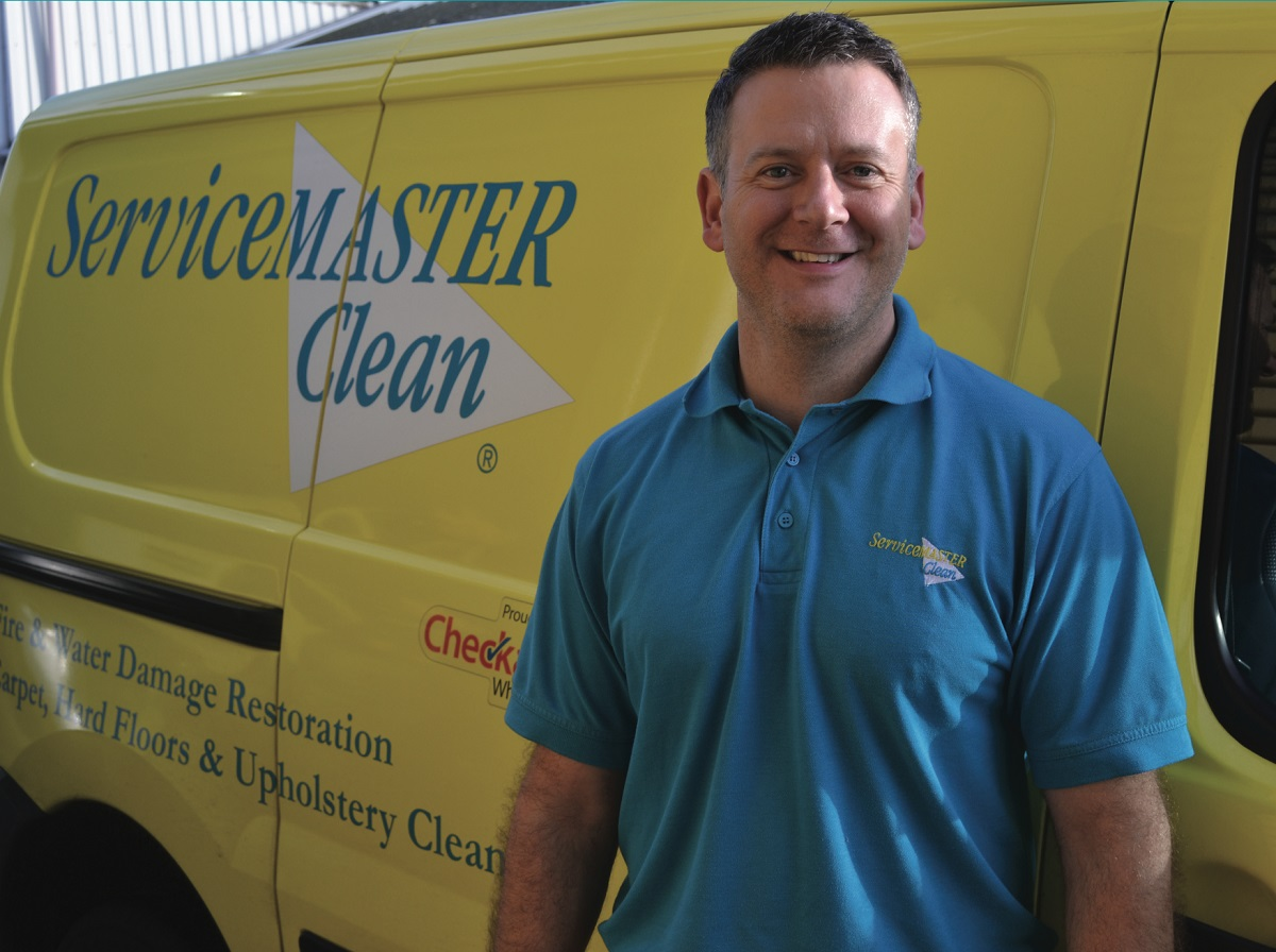 servicemaster commercial franchisee with van