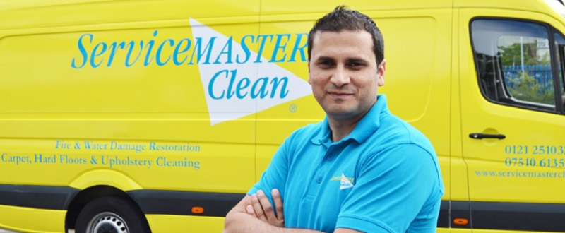 servicemaster commercia franchisee with van