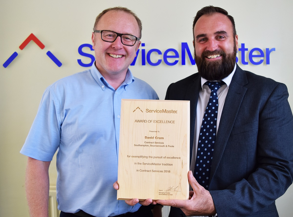 servicemaster franchisee with award