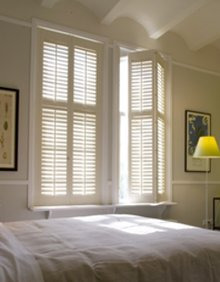 example of shuttercraft shutters in a bedroom