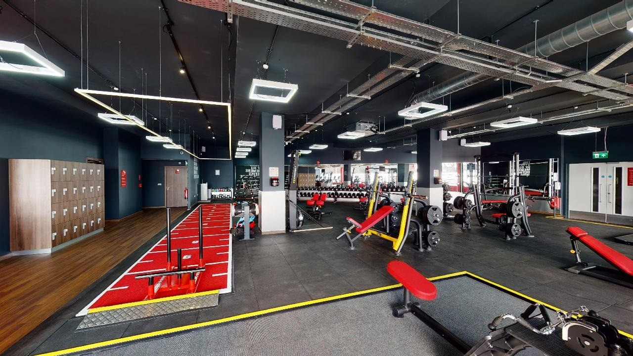 inside a snap fitness gym