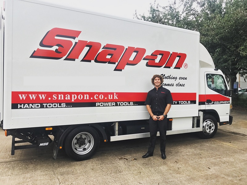snap-on franchisee standing next to van